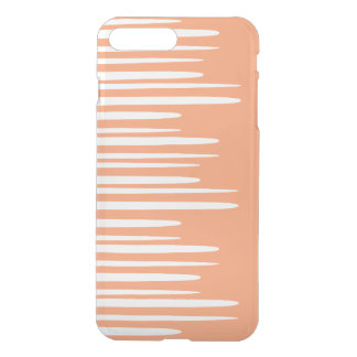 Líneas blancas apiladas claveteadas fundas para iPhone 7 plus