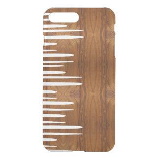 Líneas blancas apiladas claveteadas mirada de fundas para iPhone 7 plus