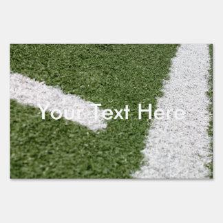 Líneas blancas del fútbol señal