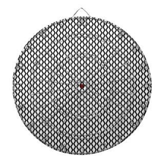 Líneas blancos y negros del zigzag tabla dardos