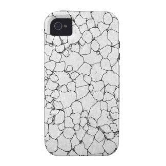 Líneas blancos y negros iPhone 4/4S carcasa