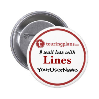 Líneas botón - diseño 2 (blanco) pin redondo de 2 pulgadas