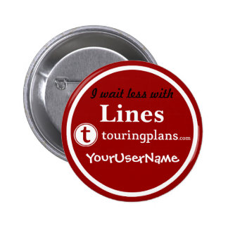 Líneas botón - diseño 3 (rojo) pin redondo de 2 pulgadas