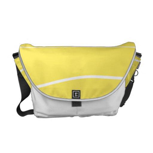 Líneas caprichosas (amarillo) bolsas de mensajería