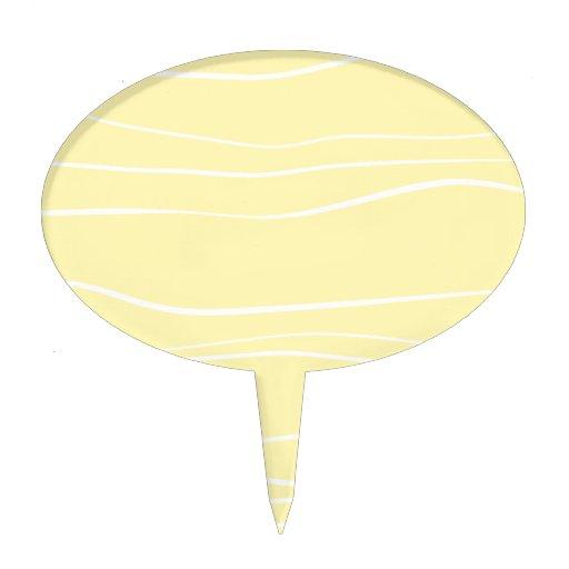 Líneas caprichosas (amarillo) decoración para tarta