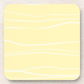Líneas caprichosas (amarillo) posavasos de bebidas