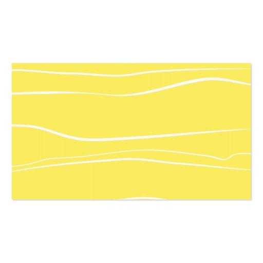 Líneas caprichosas (amarillo) tarjetas de visita
