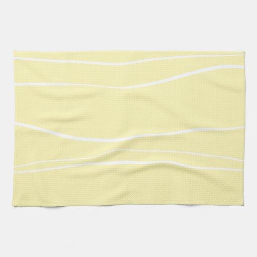 Líneas caprichosas (amarillo) toallas de cocina