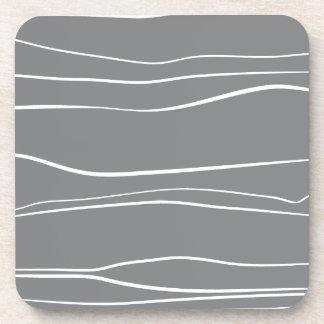 Líneas caprichosas (grises) posavasos
