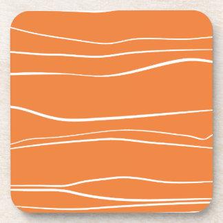 Líneas caprichosas (naranja) posavasos
