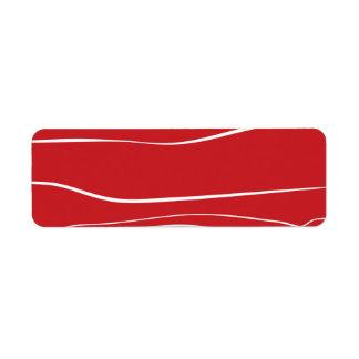 Líneas caprichosas (rojas) etiqueta de remite