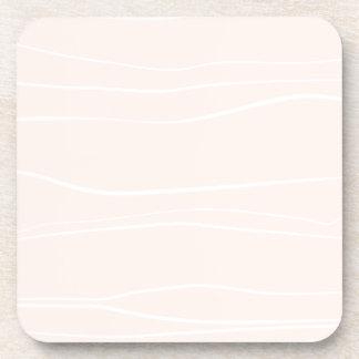 Líneas caprichosas (rosa) posavasos de bebidas