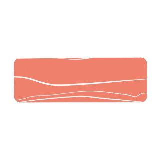 Líneas caprichosas (salmones) etiqueta de remite