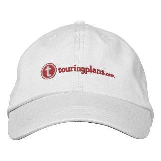 Líneas casquillo - costura roja gorra de béisbol