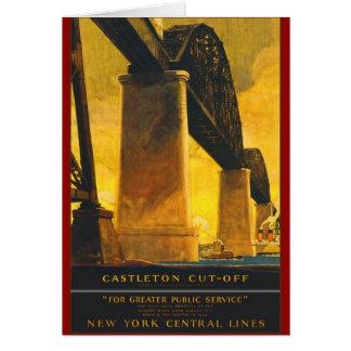 Líneas centrales de Nueva York del atajo de Castle Tarjetón