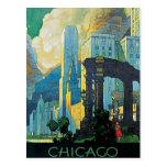 Líneas centrales vintage de Chicago Nueva York Postal