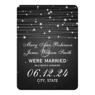 """Líneas chispeantes negro de la boda/de la fuga invitación 4.5"""" x 6.25"""""""