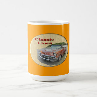Líneas coche de la obra clásica del vintage taza