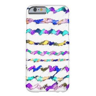 Líneas coloreadas caso del iPhone 6/6s Funda Barely There iPhone 6