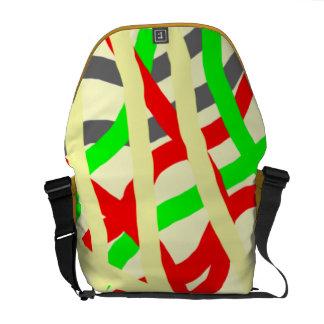 Líneas coloreadas multi bolso del mensajero bolsa de mensajeria