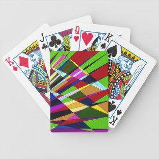 Líneas coloridas abstractas diseño digital del áng barajas de cartas