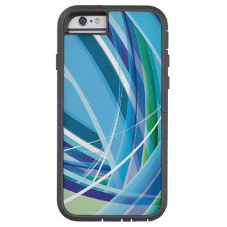 Líneas coloridas azules fondo funda de iPhone 6 tough xtreme