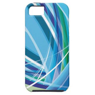 Líneas coloridas azules fondo funda para iPhone 5 tough