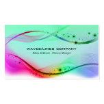 Líneas coloridas de las ondas plantillas de tarjetas personales