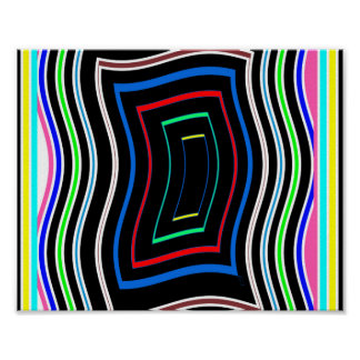 Líneas coloridas de los gráficos de las póster