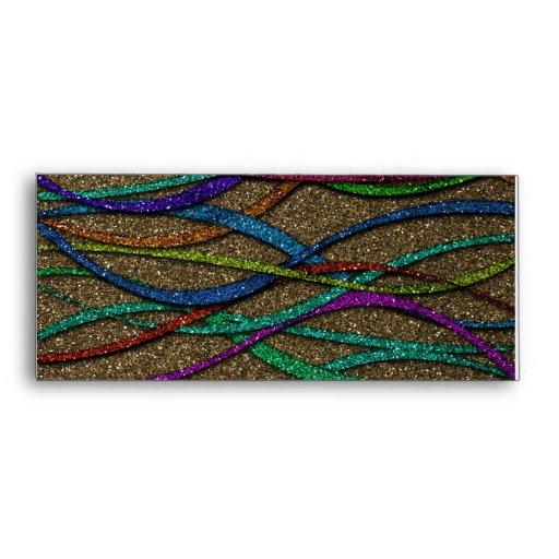 Líneas coloridas del brillo