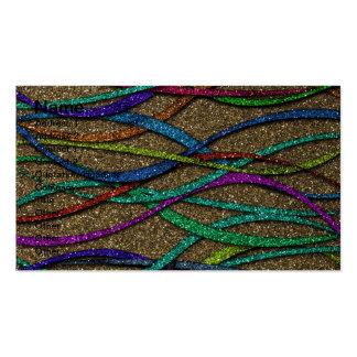 Líneas coloridas del brillo plantillas de tarjetas de visita