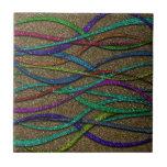 Líneas coloridas del brillo tejas
