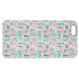 Líneas coloridas enrrolladas (verde y rosa) funda clearly™ deflector para iPhone 6 plus de unc