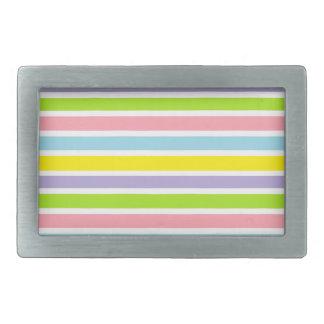 Líneas coloridas hebillas de cinturón rectangulares