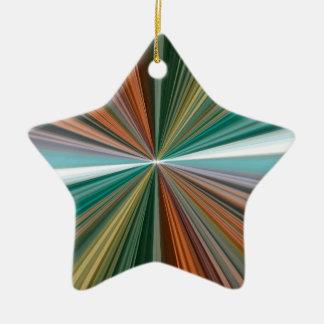 Líneas coloridas modelo adorno navideño de cerámica en forma de estrella