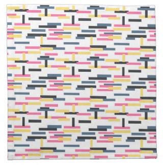 Líneas coloridas modelo inconsútil, moderno servilleta de papel