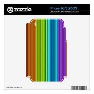 Líneas coloridas - modelo skins para iPhone 3G