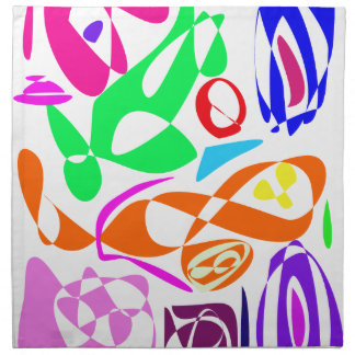 Líneas coloridas servilletas de papel