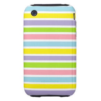 Líneas coloridas tough iPhone 3 cobertura