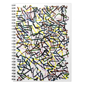 Líneas cruzadas cuaderno