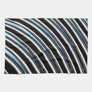Líneas curvadas cerca para arriba de un fractal toallas de cocina