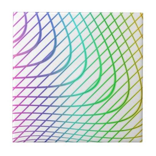 Líneas curvadas y rectas en arte abstracto tejas  cerámicas