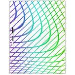 Líneas curvadas y rectas en arte abstracto pizarra blanca
