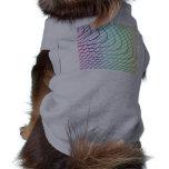 Líneas curvadas y rectas en arte abstracto camisetas de perrito