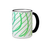 Líneas curvadas y rectas en arte abstracto taza de café