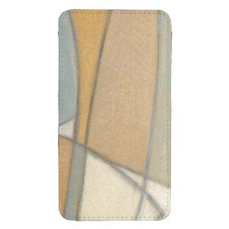 Líneas curvadas y tonos mudos de la tierra bolsillo para móvil