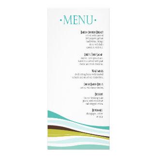 Líneas Curvy aceituna del trullo del menú de la ce Comunicados Personalizados