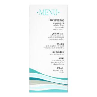 Líneas Curvy aguamarina del menú de la cena Comunicado Personal