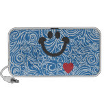 Líneas Curvy altavoz azul del Doodle de la sonrisa