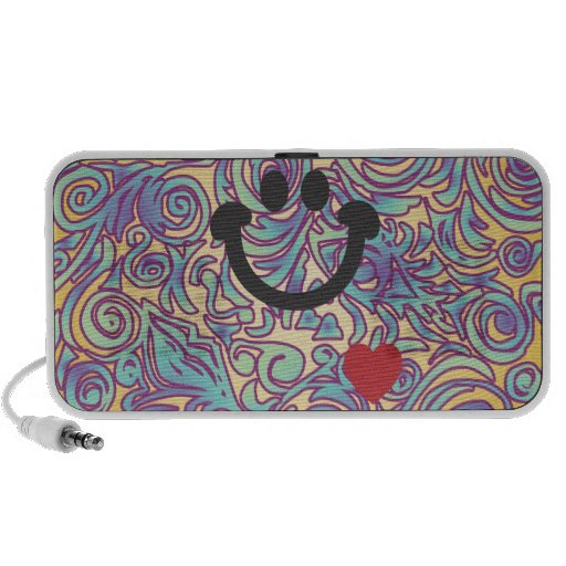 Líneas Curvy altavoz púrpura del Doodle de la sonr